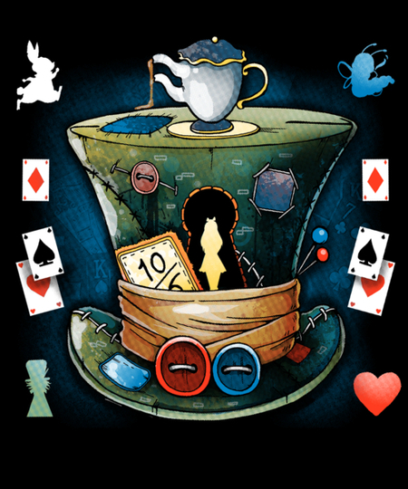 Qwertee: Mad Hatter Characters
