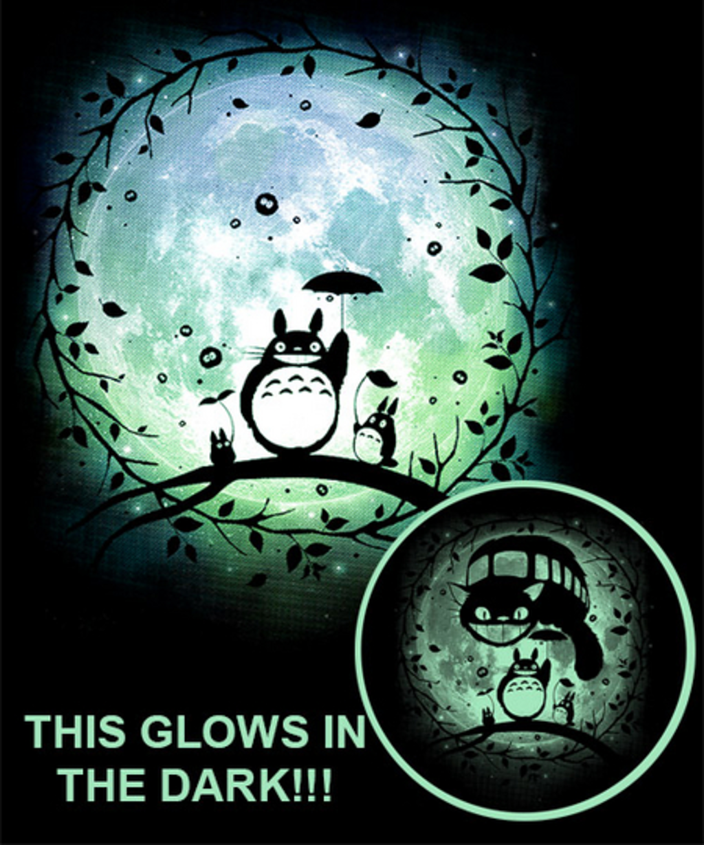 Qwertee: Susuwatari Moon-Glow