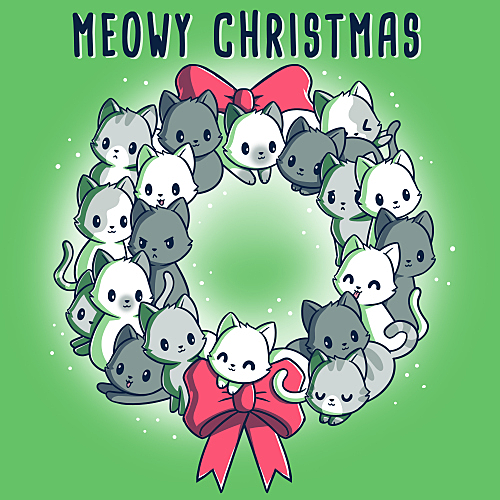 TeeTurtle: Meowy Christmas Wreath
