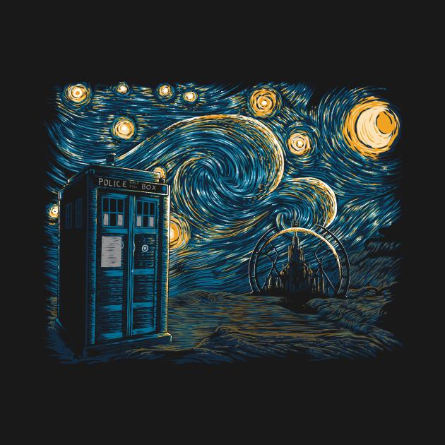TeePublic: Starry Gallifrey