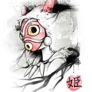 Qwertee: Mononoke INK