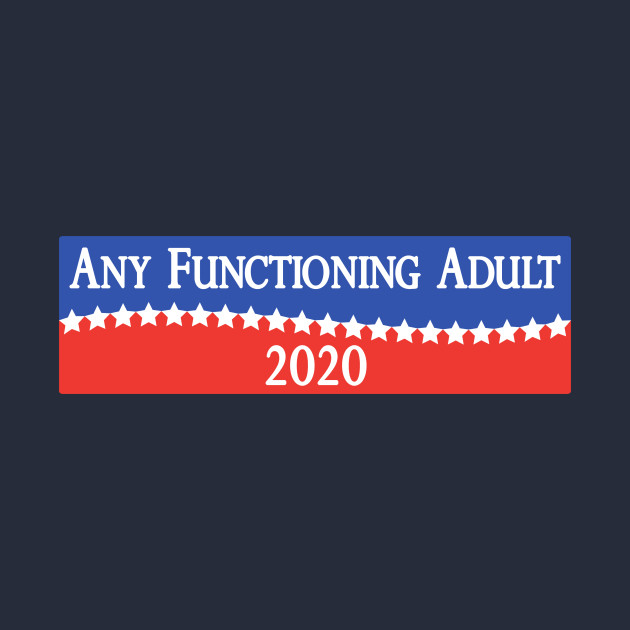 TeePublic: Any Functioning Adult 2020 - Funny Campaigning