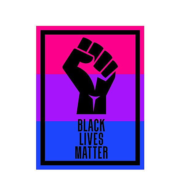 RedBubble: BLM fist - bisexual2