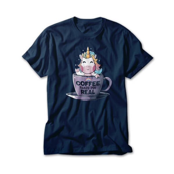 OtherTees: Coffee Makes You Real