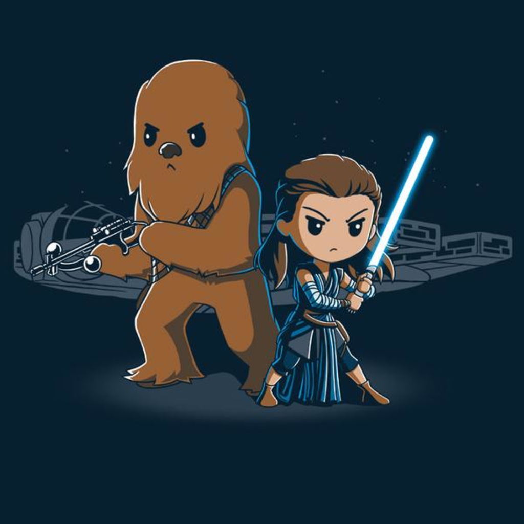TeeTurtle: Rey and Chewie