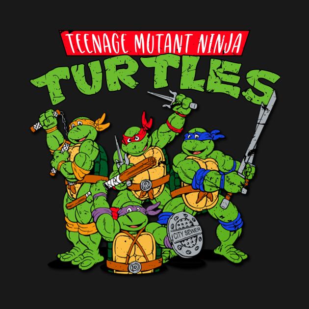 TeePublic: Teenage Mutant Ninja Turtles Classic Retro Logo