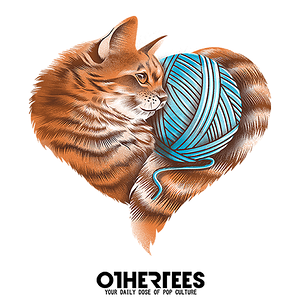 OtherTees: Heart Knitting Kitten