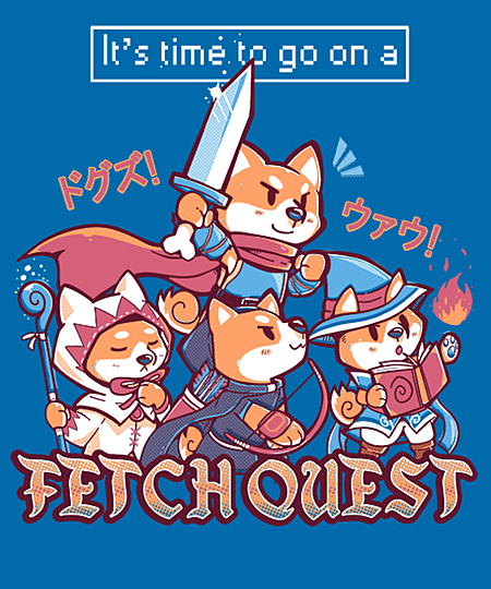 Qwertee: It's Time to go on a FETCH QUEST