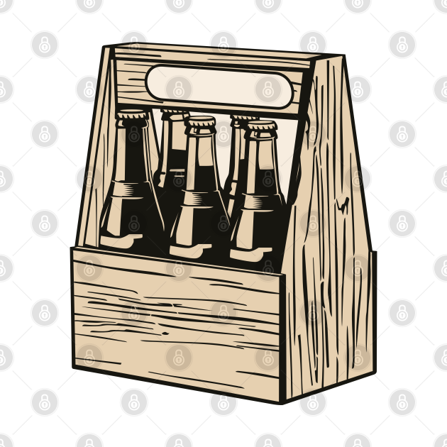 TeePublic: Drink Crate Drinks Soda Beer