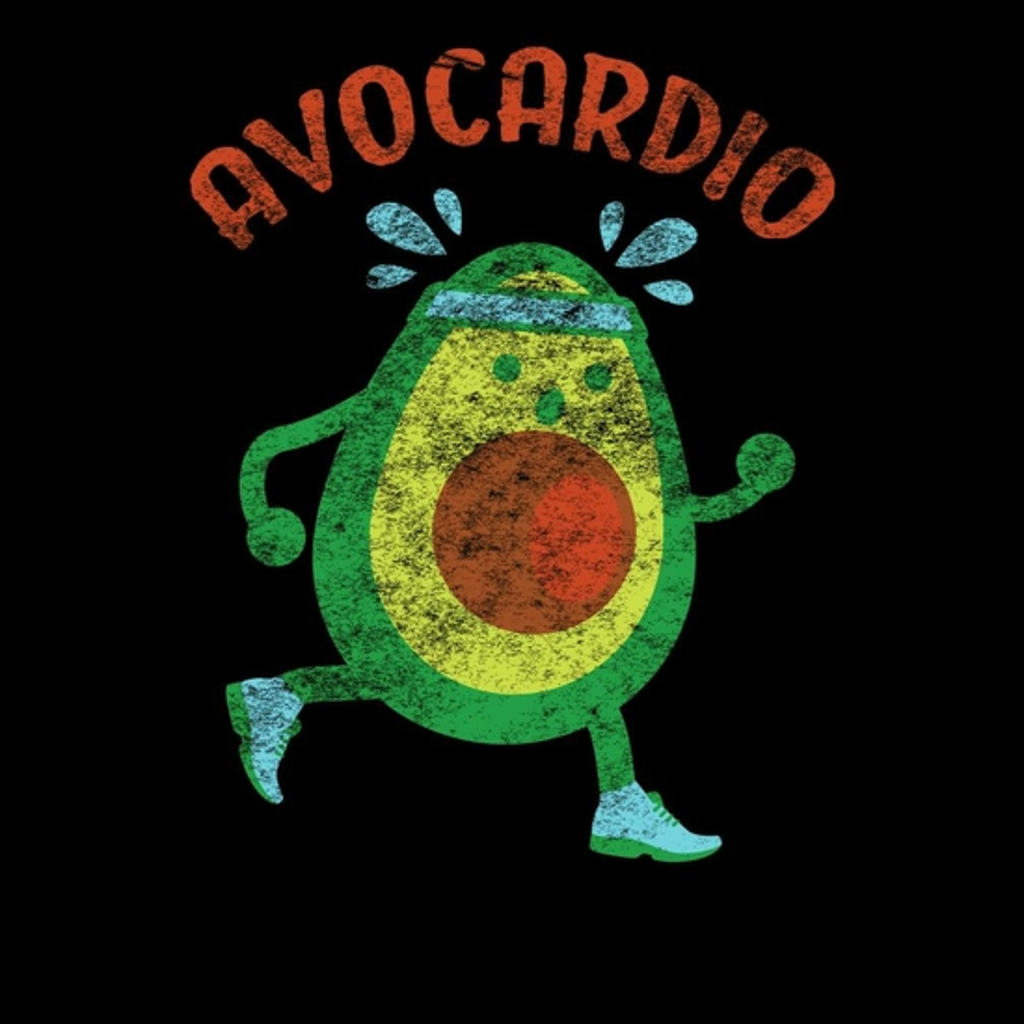 BustedTees: Funny Vintage Avocardio Gym T-shirt