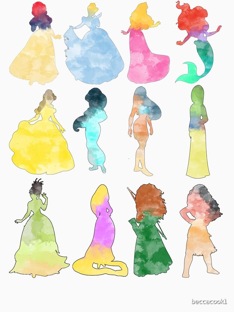 RedBubble: Princesses watercolor