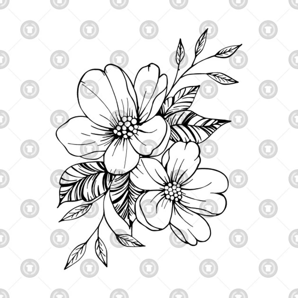 TeePublic: Floral Outline