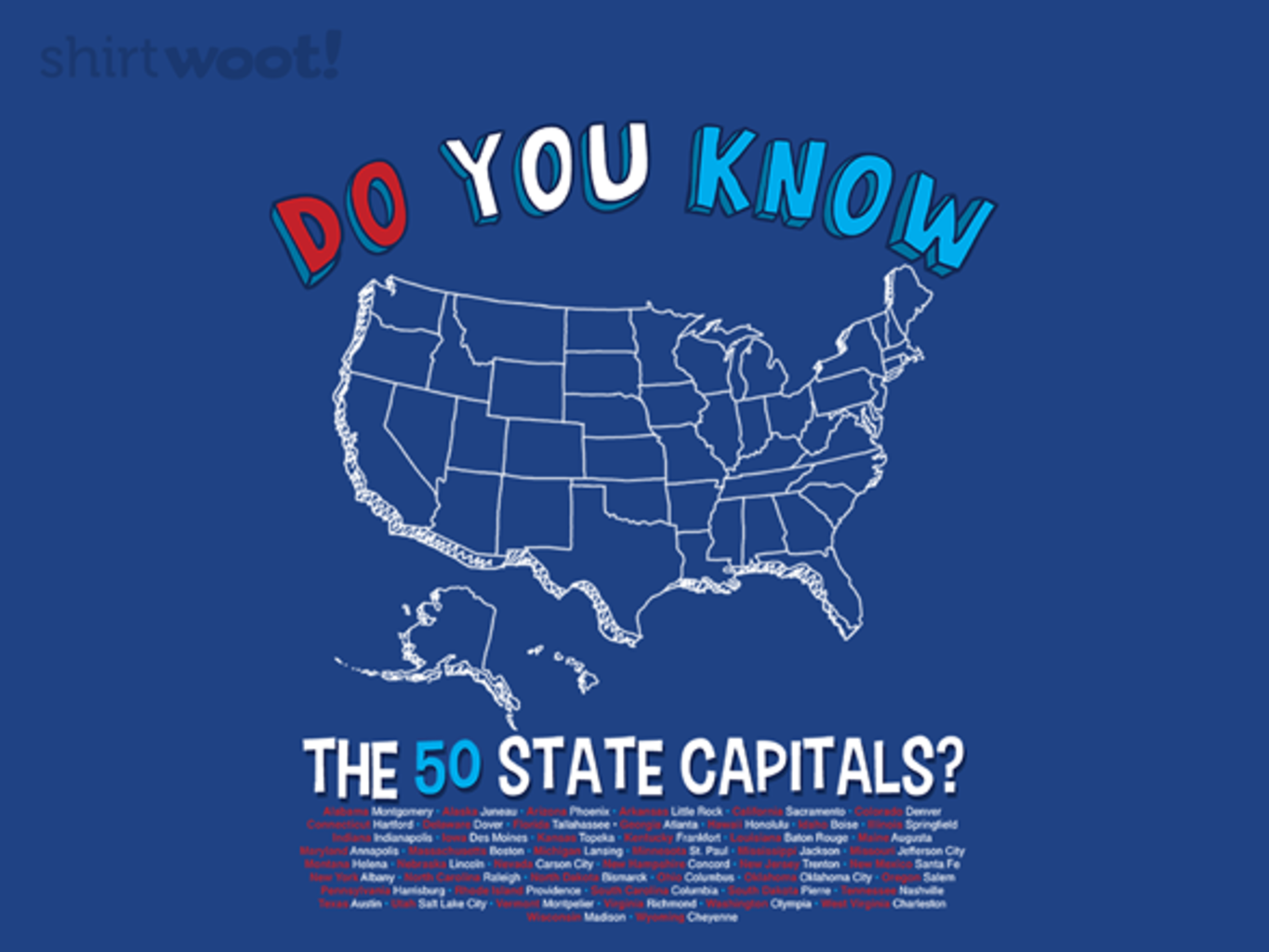 Woot!: States and Capitals - $8.00 + $5 ground shipping