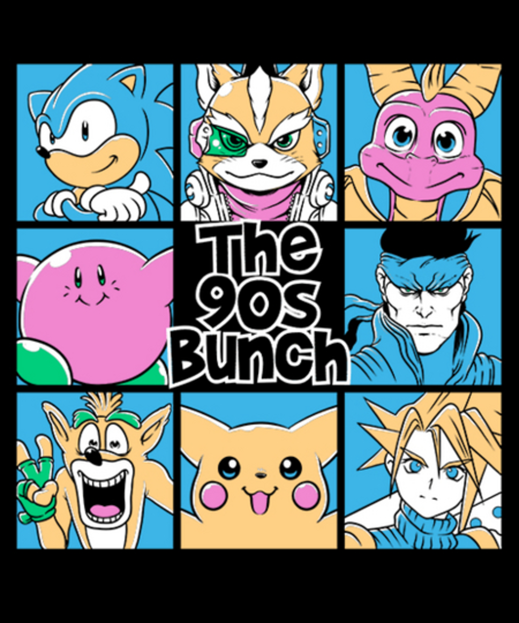 Qwertee: The 90s Bunch