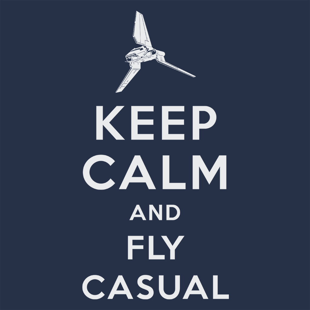 Pop-Up Tee: Keep Calm and Fly Casual