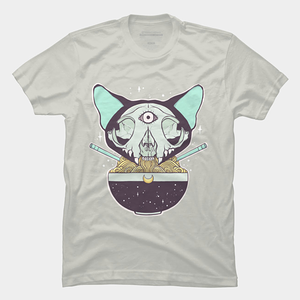Design by Humans: Cat Skull Ramen Noodles