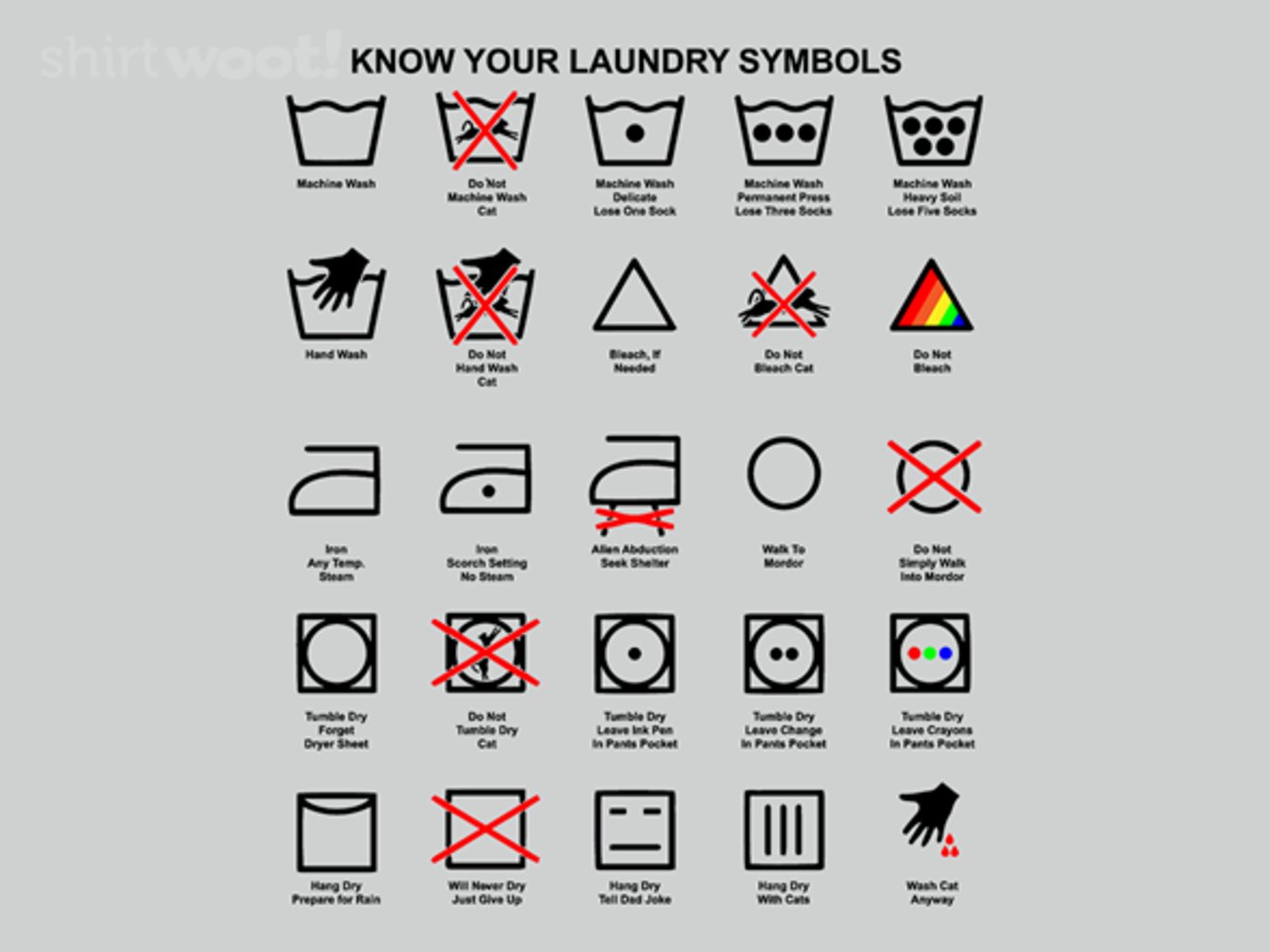 Woot!: Know Your Laundry Symbols