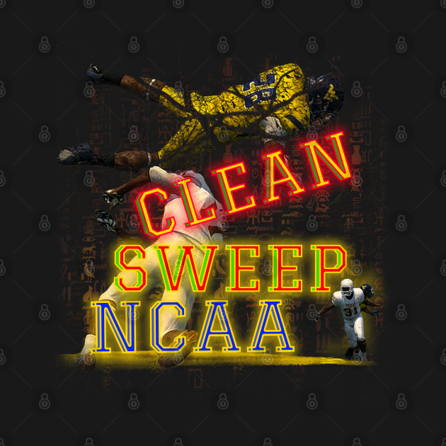 TeePublic: NCAA Football | Clean Sweep NCAA