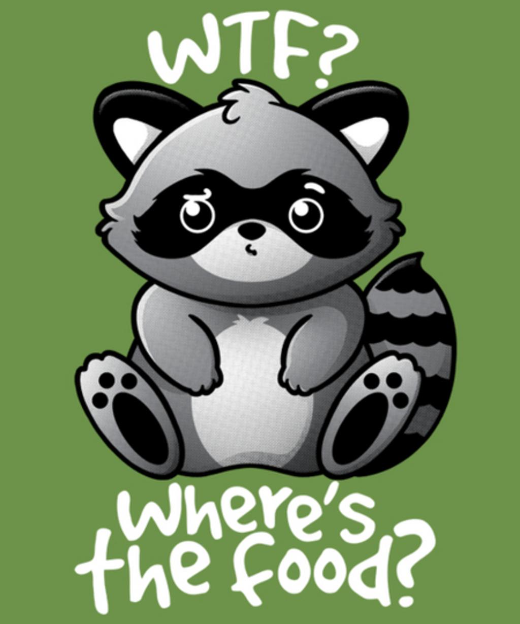 Qwertee: WTF Raccoon
