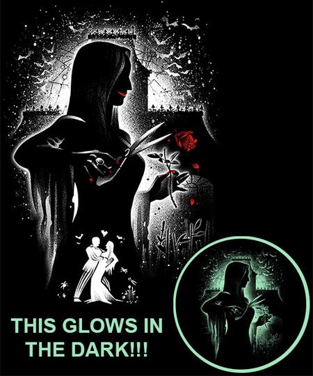 Qwertee: The Dark Lady Glow in the Dark