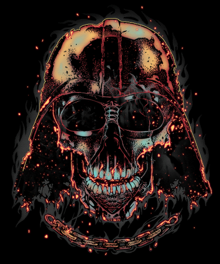 Qwertee: Burning Dark Skull