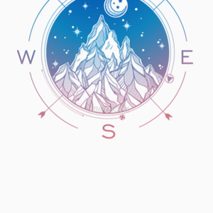RedBubble: Wanderlust Tattoo of Hand Drawn Mountain Wind Compass