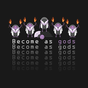 TeePublic: Nier - BECOME AS GODS
