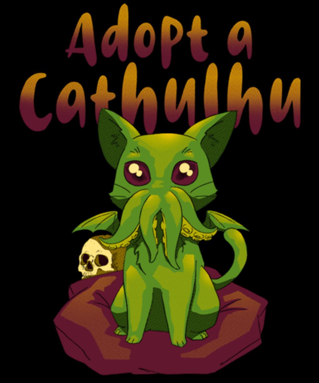 Qwertee: Adopt a Cathulhu