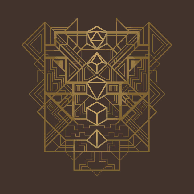 TeePublic: Dice deco gold