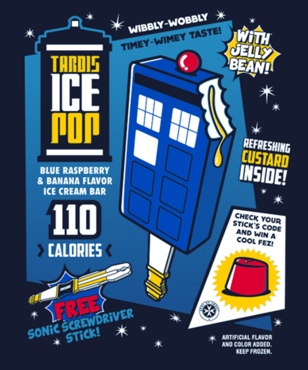 Qwertee: Tardis Ice Pop