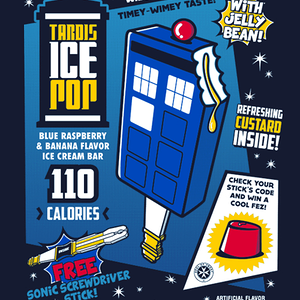 Qwertee: Tardis Ice Pop