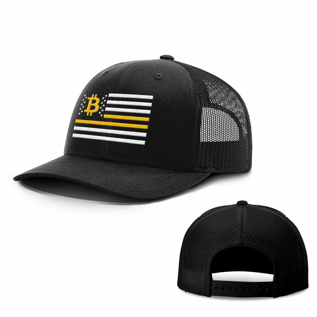 BustedTees: Bitcoin Flag Hats