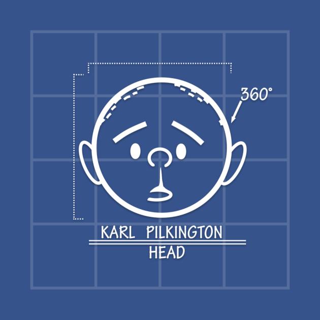 TeePublic: Karl Pilkington Blueprints