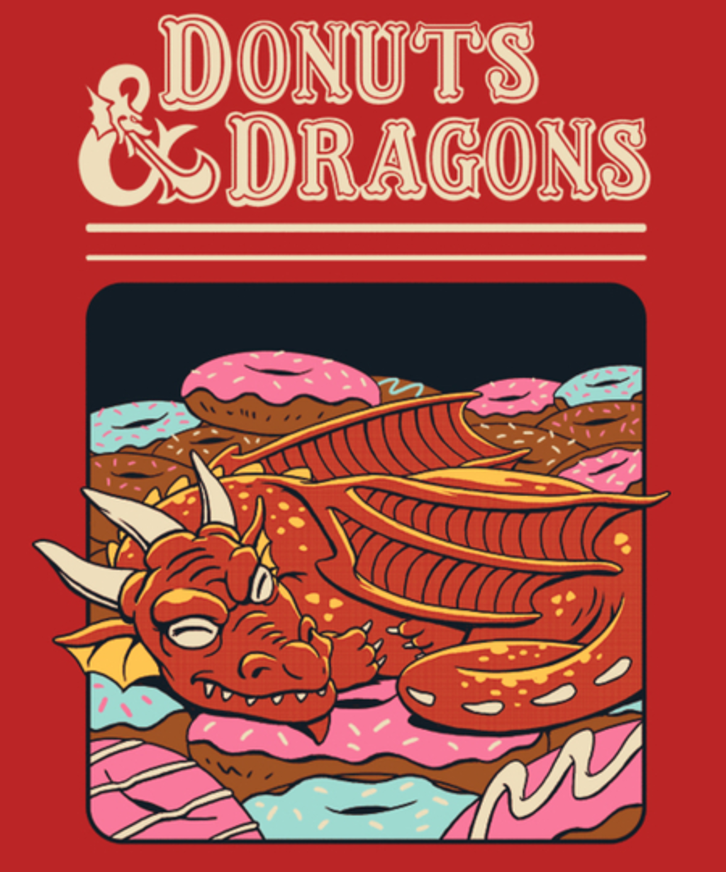 Qwertee: Donuts and Dragons