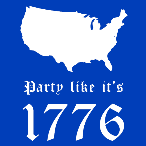 Textual Tees: Party Like It's 1776