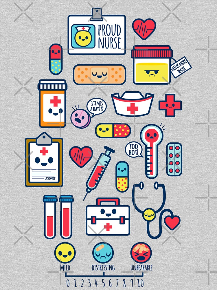 RedBubble: Proud To Be a Nurse / Surface Pattern Design / Blue