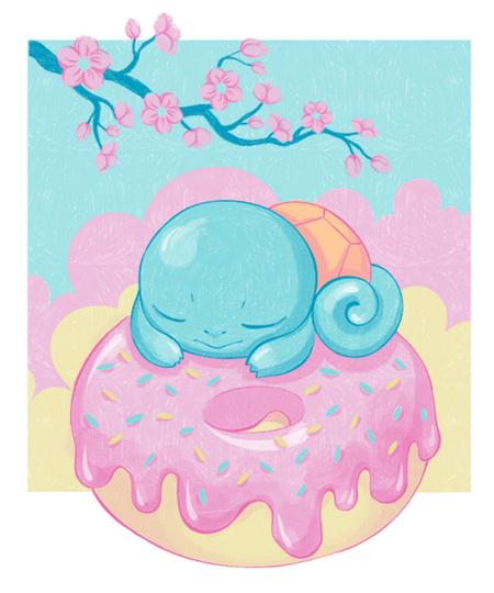 Qwertee: Kawaii Donut