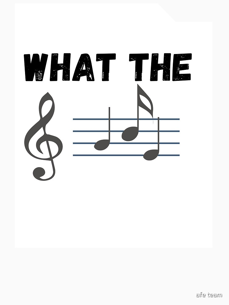 RedBubble: What The F Musical Note