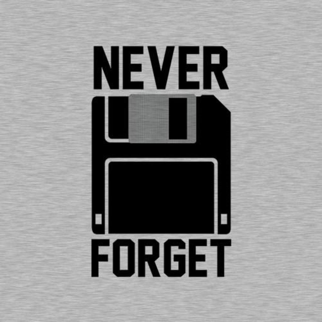 Five Finger Tees: Never Forget Floppy Disk T-Shirt