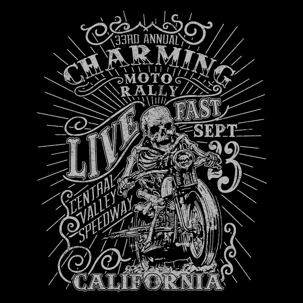 Pop-Up Tee: Charming Moto Rally