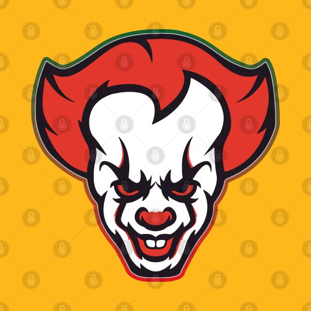 TeePublic: The Crazy Clown Smile face - FanGamer ArtWork