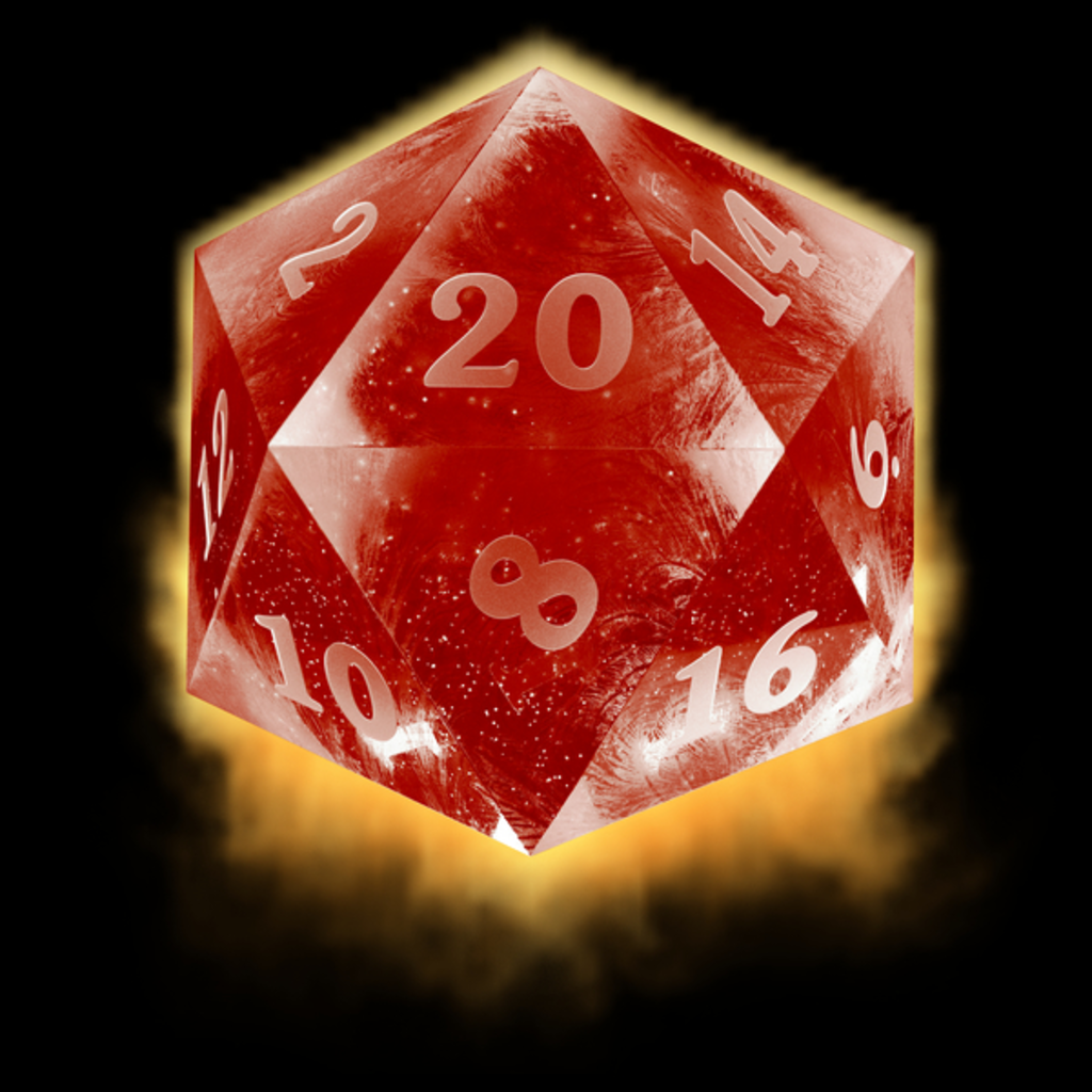 NeatoShop: Ice d20 - red