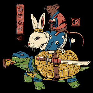 NeatoShop: Kame, Usagi and Ratto Ninjas