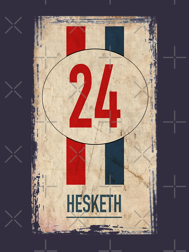 RedBubble: Hesketh Racing Iconic James Hunt Number