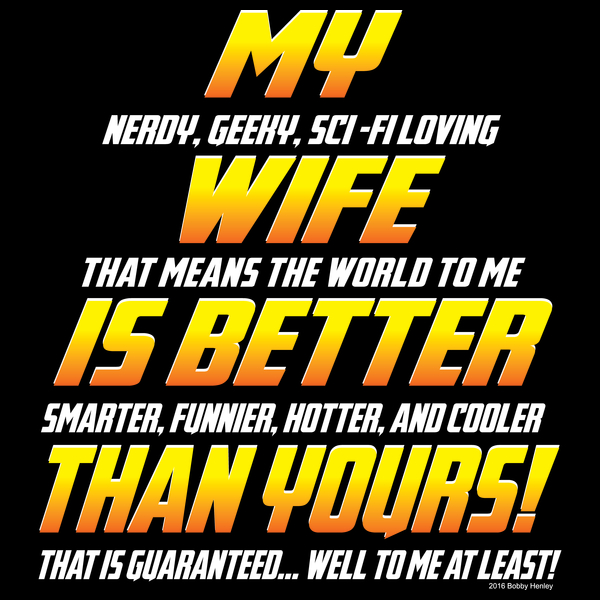 NeatoShop: My wife is better...