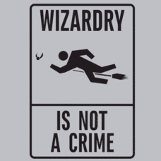 Textual Tees: Wizardry is Not a Crime