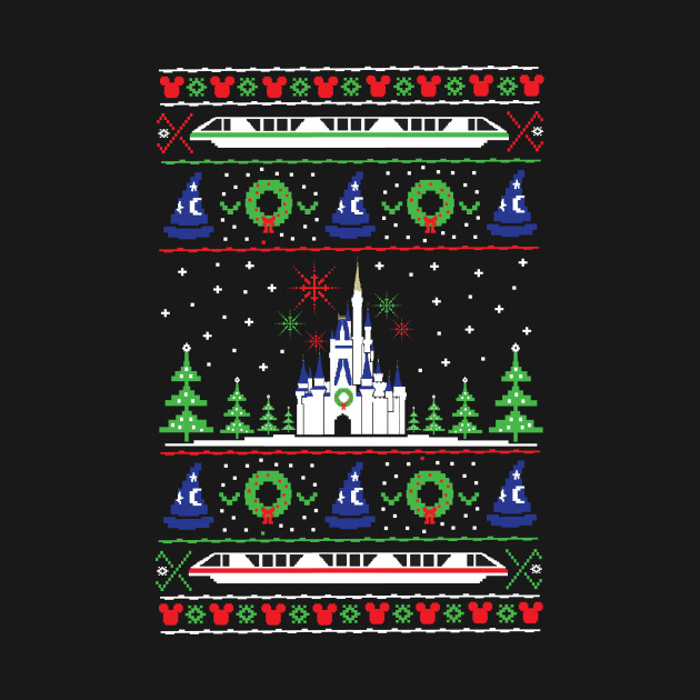 TeePublic: Magical Kingdom Christmas Sweater T-Shirt