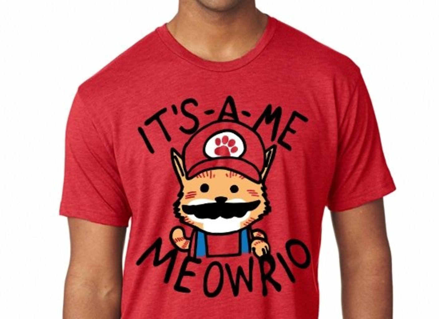 SnorgTees: It's-a-me Meowrio Limited Edition Tri-Blend