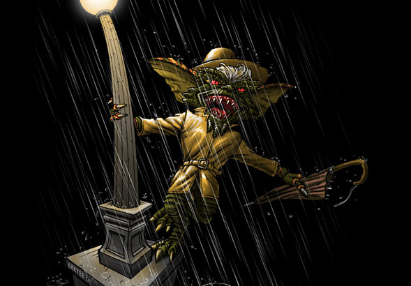 teeVillain: Gremlin in the Rain