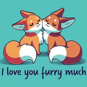 TeeTurtle: I Love You Furry Much
